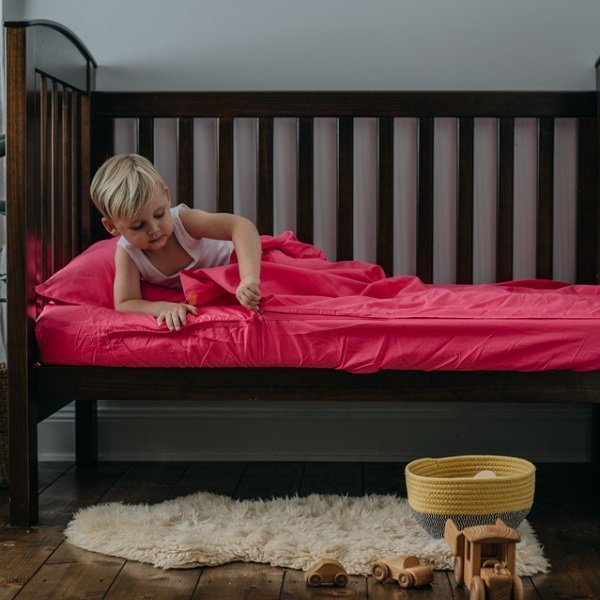 Toddler zipper bedding